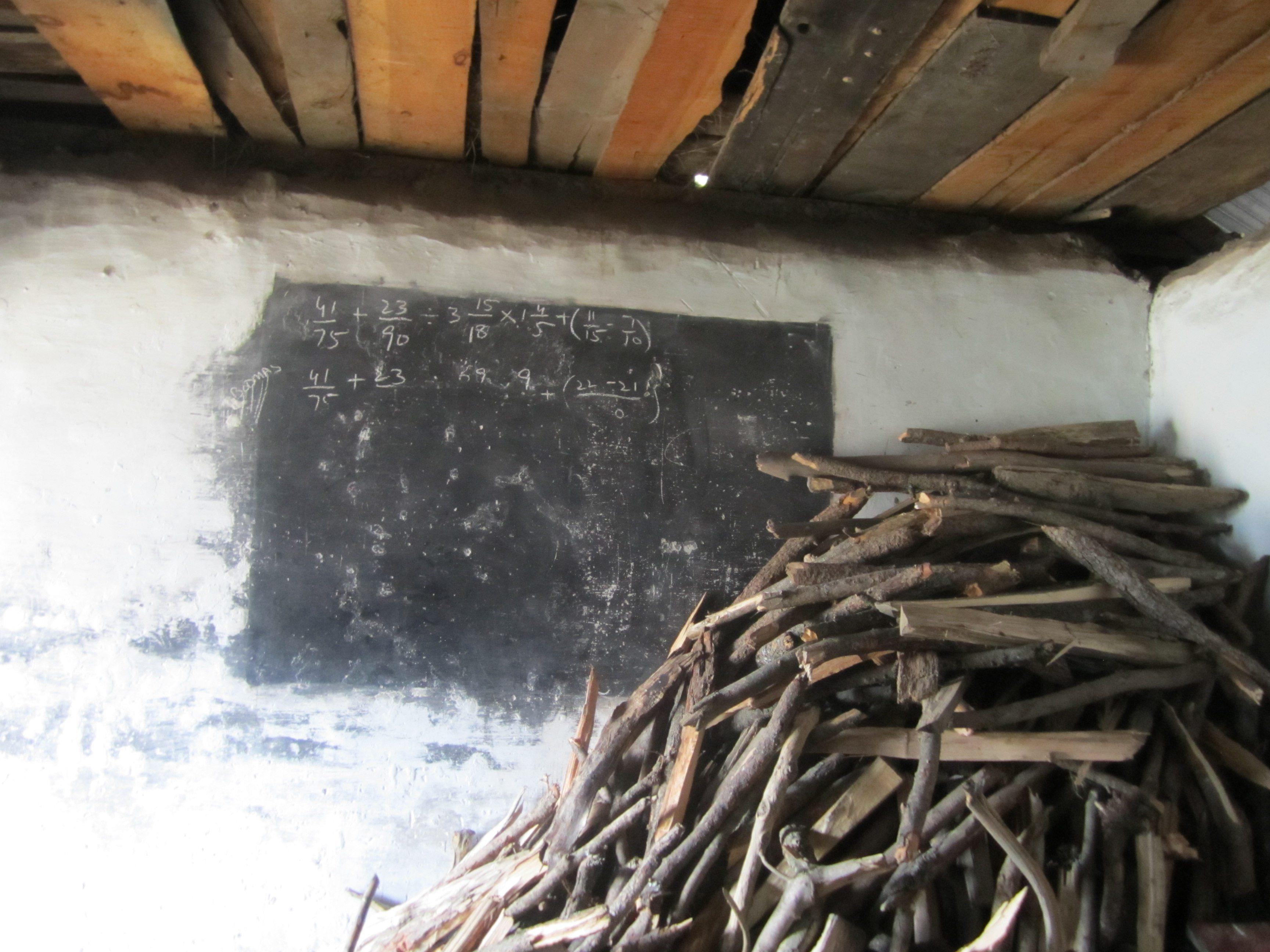 class room at govt boys school in Pakistan